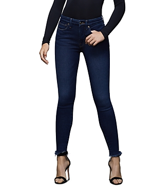Good American Good Waist High-Rise Skinny Jeans in Blue387