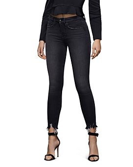 Good American - Good Legs High-Rise Ankle Skinny Jeans in Black083