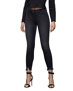 Good American - Good Legs High-Rise Ankle Skinny Jeans in Black083