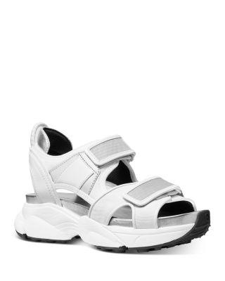 Harvey Sneaker Sandals In Optic White