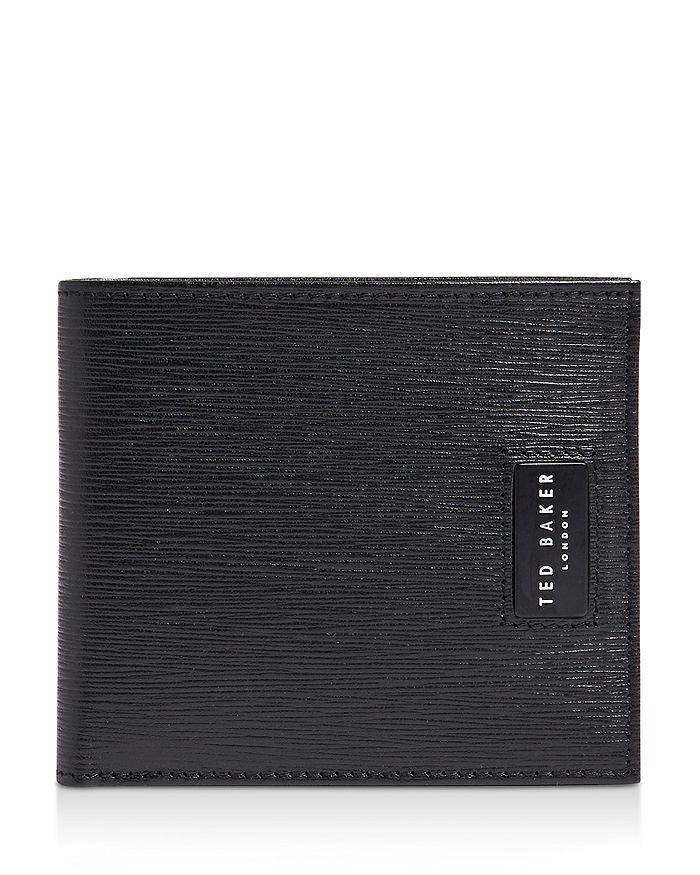 Ted Baker - Woodgrain-Embossed Leather Bifold Wallet