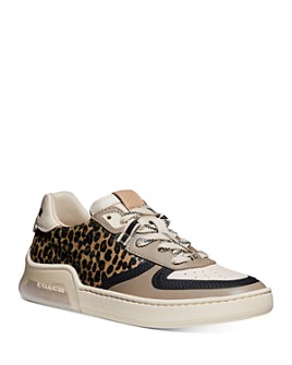 COACH - Women's CitySole Court Calf-Hair Low-Top Sneakers
