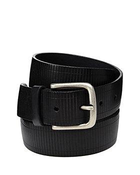 The Men's Store at Bloomingdale's - Men's Railroad Stripe Leather Belt - 100% Exclusive
