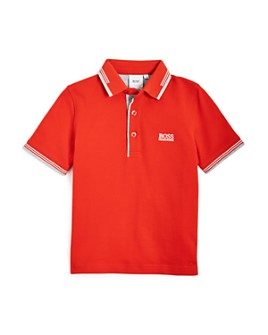 BOSS Hugo Boss - Boys' Embroidered Short Sleeve Polo Shirt - Little Kid, Big Kid