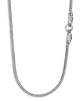 "JOHN HARDY - Sterling Silver Legends Naga Blue Sapphire Double Dragon 36"" Strand Necklace"