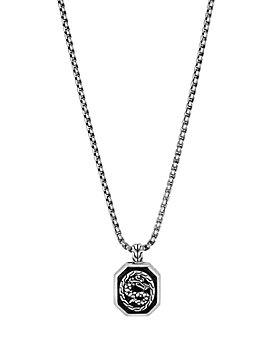 "JOHN HARDY - Sterling Silver Legends Naga Dragon Octagonal 20"" Pendant Necklace"