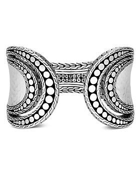 JOHN HARDY - Hammered Sterling Silver Dotted Flex Cuff Bracelet