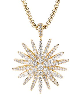 David Yurman - Pavé Diamond Starburst Pendant in 18K Yellow Gold