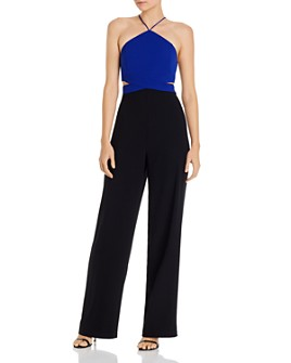 Aidan by Aidan Mattox - Color-Blocked Crepe Jumpsuit
