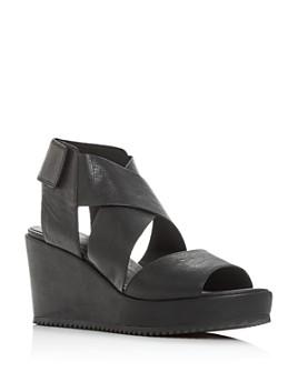 Eileen Fisher - Women's Whimsey Strappy Platform Wedge Sandals
