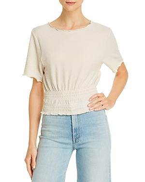 Comune Lina Smocked Crop Top