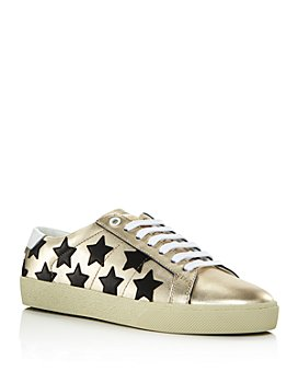 Saint Laurent - Women's Star Leather Sneakers
