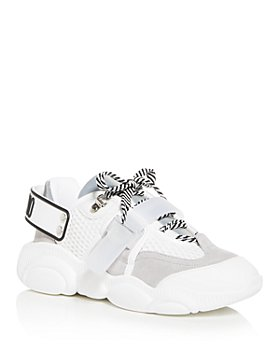 Moschino - Women's Mixed Media Low-Top Sneakers