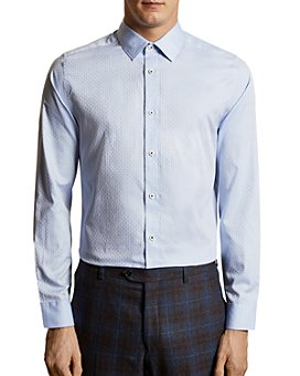 Ted Baker - Geo-Jacquard Slim Fit Button-Down Shirt