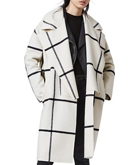 ALLSAINTS - Ryder Woven Checked Coat