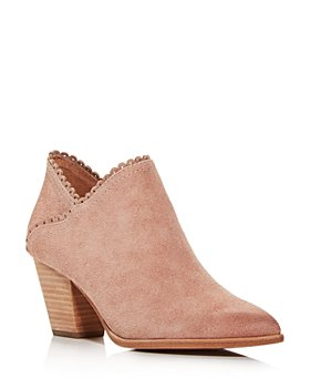 Frye - Women's Reed Scalloped Mid-Heel Booties