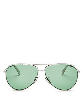 CELINE - Women's Glitter Brow Bar Aviator Sunglasses, 61mm