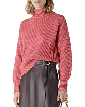 Whistles - Moss-Stitch Textured Knit Sweater