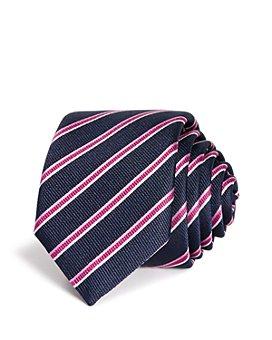 BOSS - Traveller Contrast Stripe Silk Skinny Tie