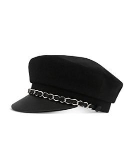The Kooples - Chain-Detail Newsboy Hat