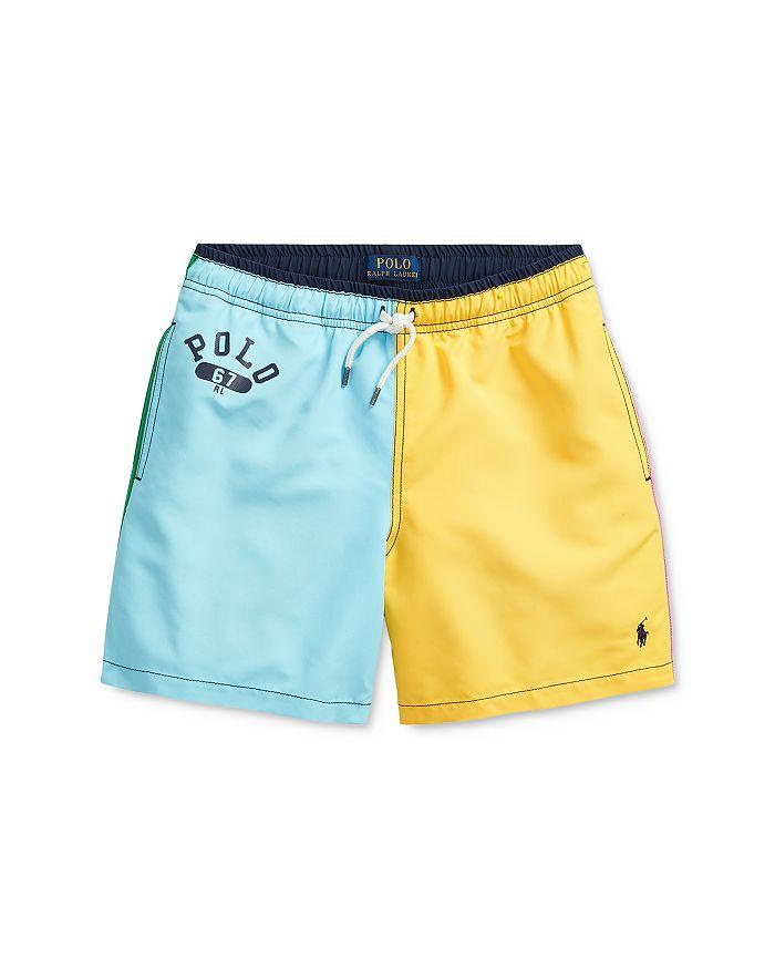 Ralph Lauren - Boys' Traveler Colorblocked Swim Trunks - Big Kid