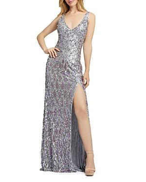 Mac Duggal Sequined Evening Gown-Women