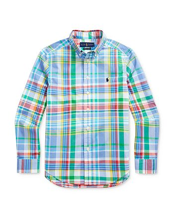 Ralph Lauren - Boys' Multi-Color Plaid Poplin Shirt - Big Kid