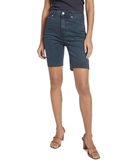 Current/Elliott - The Truby Virens Denim Shorts in Superba Cut Hem