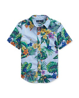 Ralph Lauren - Boys' Cotton Seersucker Tropical Button-Down Shirt - Big Kid