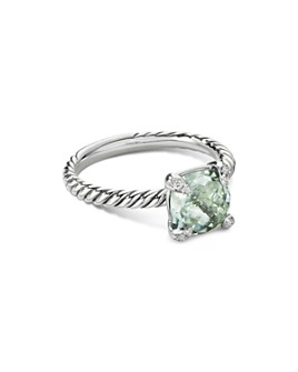 David Yurman - Châtelaine® Ring with Prasiolite and Diamonds