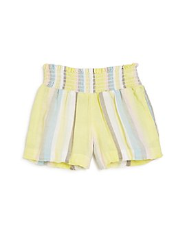 Bella Dahl - Girls' Frayed-Hem Stripe Smocked Shorts - Big Kid