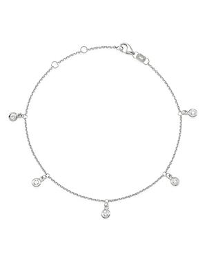 Bloomingdale's Diamond Bezel Droplet Bracelet in 14K White Gold - 100% Exclusive