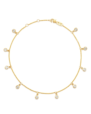Bloomingdale's Diamond Bezel Droplet Ankle Bracelet in 14K Yellow Gold - 100% Exclusive