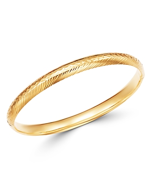 Bloomingdale's Engraved Hinge Bangle Bracelet in 14K Yellow Gold - 100% Exclusive