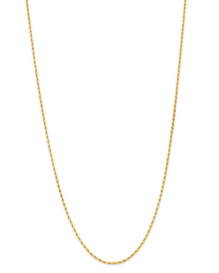 Bloomingdale's - Solid Rope Link Chain Necklace in 14K Yellow Gold - 100% Exclusive