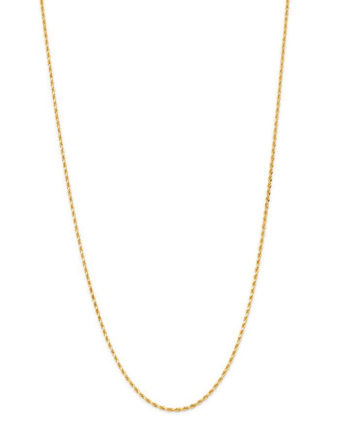 "Bloomingdale's Bloomingdale's Rope Link Chain Necklace in 14K Yellow Gold, 16"" - 100% Exclusive    Bloomingdale's"