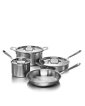 All-Clad - d5 Stainless Brushed 7-Piece Cookware Set - 100% Exclusive