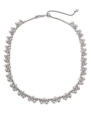Nadri Silver-Tone Cubic Zirconia Collar Necklace, 16-19