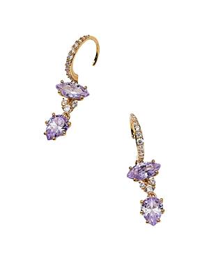 Nadri Cubic Zirconia Double Drop Earrings
