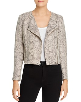 cupcakes and cashmere - Isabell Snake-Print Moto Jacket