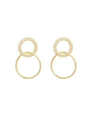 Gorjana 18K Gold-Plated Cubic Zirconia Interlocking Drop Earrings