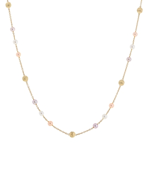Marco Bicego 18K Yellow Gold Africa Pearl Multicolor Cultured Freshwater Pearl Statement Necklace, 1