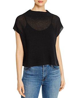 Eileen Fisher - Organic Cotton Short-Sleeve Sweater