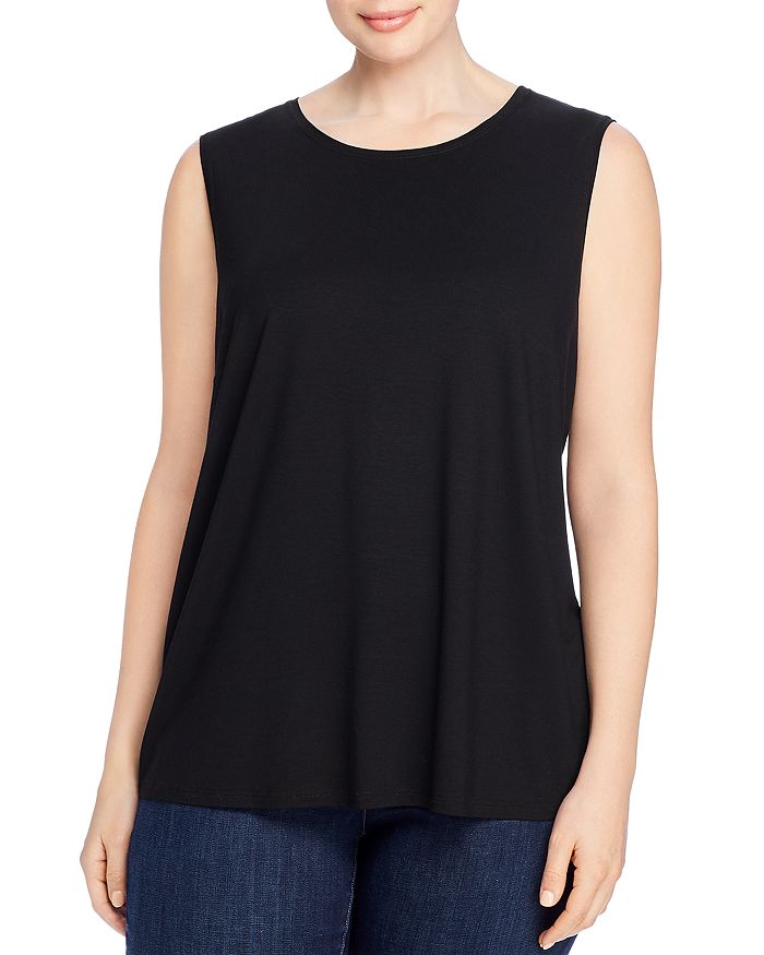 Eileen Fisher Plus - Crewneck Shaped Tank Top