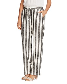 VINCE CAMUTO - Striped Drawstring Pants
