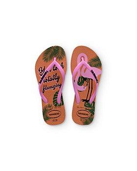 havaianas - Girls' Flamazing Flip Flops - Toddler, Little Kid