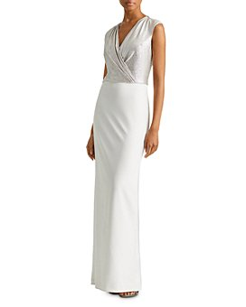 Ralph Lauren - Two-Tone Jersey Gown