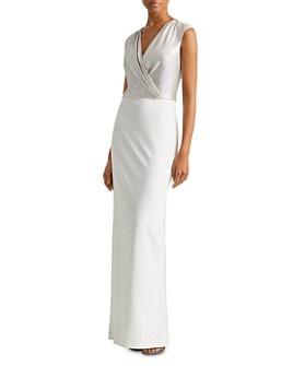 Ralph Lauren - Two-Tone Jersey Gown