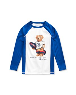 Ralph Lauren - Boys' Surfing Bear Rash Guard - Little Kid