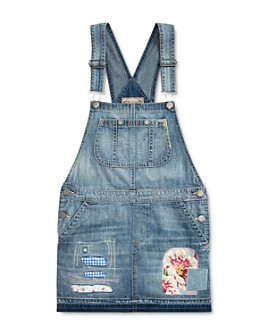 Ralph Lauren - Girls' Denim Overall Dress - Big Kid